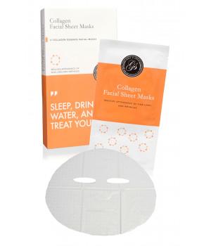 Маска тканевая для лица с коллагеном Collagen Facial Sheet Masks, 6 шт