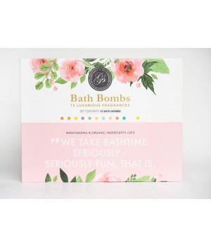 Набор бомбочек для ванн Bath Bombs, 12 шт