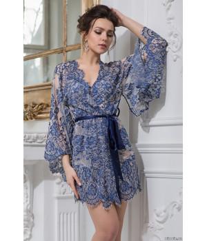 Короткий ажурный халат-кимоно из кружева Michelle (2103)