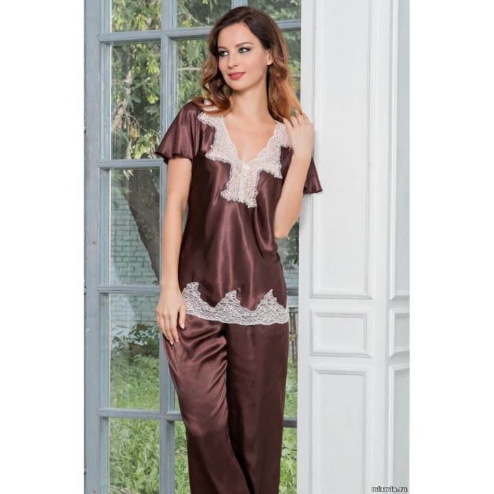Копия Блузка и брюки из натурального шелка MARILIN (3106)