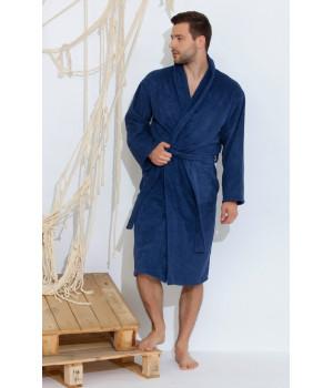 Банный махровый халат Smoky Blue (Е 363/5)