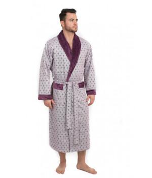 Мягкий велюровый халат из бамбука CRISTOF (EPP M122)