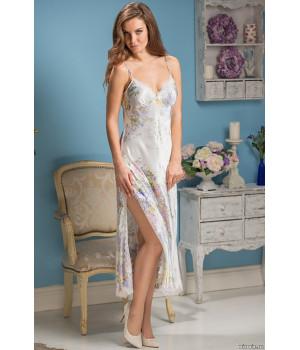 Длинная сорочка из натурального шелка Lilianna (EM 5996)