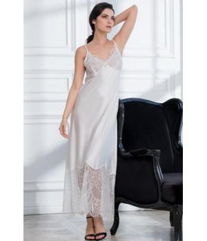 Длинная шелковая сорочка Afrodita (EM 2168)