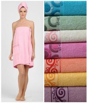 Женский набор для бани и сауны Classic Cotton (EVA)