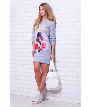 Велюровое платье MAGNETIC (PM 389)