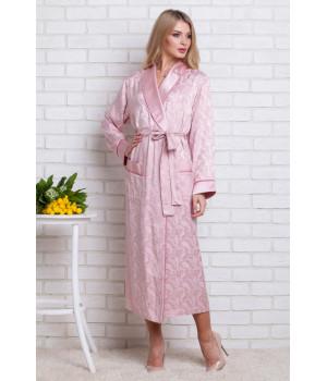 Женский атласный халат из бамбука Silk bamboo (9210 pudra)