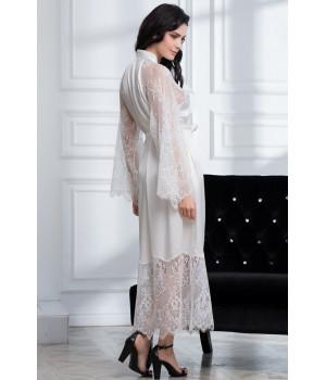 Изысканный длинный шелковый халат Afrodita (2169)