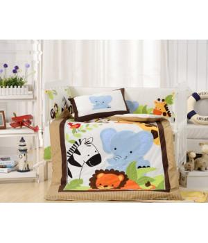 Комплаект в детскую кроватку с бортиком Вальтери DK-25