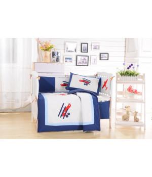 Комплаект в детскую кроватку с бортиком Вальтери DK-08