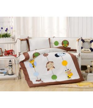 Комплаект в детскую кроватку с бортиком Вальтери DK-26