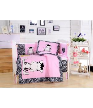 Комплаект в детскую кроватку с бортиком Вальтери DK-10