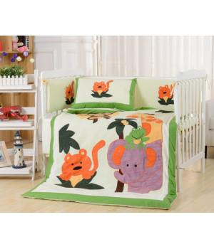 Комплаект в детскую кроватку с бортиком Вальтери DK-19