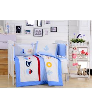 Комплаект в детскую кроватку с бортиком Вальтери DK-13