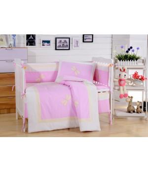Комплаект в детскую кроватку с бортиком Вальтери DK-23