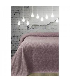 Простынь махровая Damask фиолетовый Вальтери 160x220