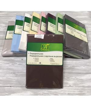 Пододеяльник однотонный сатин Альвитек  145х215 шоколад