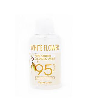 Очищающая вода с экстрактом белых цветов, 500мл, FarmStay