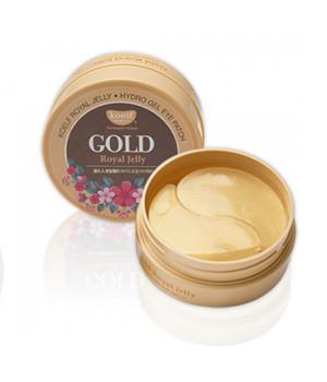 Гидрогелевые патчи для области вокруг глаз с коллоидным золотом и пчелиным маточным молочком, 60шт, KOELF
