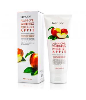 Отшелушивающий гель с экстрактом яблока, выравнивающий тон кожи, 180мл, FarmStay